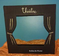 Bulles de Plume: DIY Théâtre d'ombres (carton - recyclage) Carton Diy, Shadow Theatre, Diy Ombre, Silhouettes, Origami, Parents, Tours, Patterns, Frame