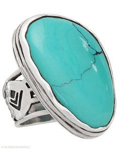 http://sild.es/mJP Tumbled Turquoise Ring, Rings - Silpada Designs