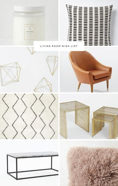Living Room Wish List - Salted Ink #living #home #urbanoutfitters #anthropologie #westelm