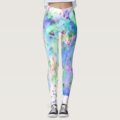 Fun Blue Green Purple & Pink Paint Splatter Leggings   yoga printables, youtube yoga, yoga inspiration mindfulness #picoftheday #healthybody #healthylifestyle, 4th of july party Green And Purple, Pink Purple, Pastel Pattern, Mosaic Patterns, Paint Splatter, Leggings Fashion, Look Cool, Adulting, Dressmaking