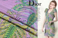 Colorful-Fern-and-florals-and-leaves-print-design-silk-and-Linen-fabric-SLN005
