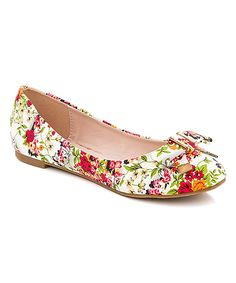 Another great find on #zulily! Lady Godiva White Floral Ballet Flat by Lady Godiva #zulilyfinds