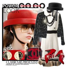 """Power Look: Chanel Classics"" by vittorio-1 ❤ liked on Polyvore featuring Chanel"