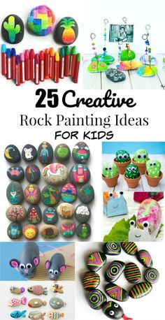 25 creative rock painting ideas and rock crafts for kids pebble painting, pebble art, Rock Painting Patterns, Rock Painting Ideas Easy, Painting For Kids, Art For Kids, 3 Kids, Children, Kids Crafts, Craft Activities For Kids, Creative Crafts