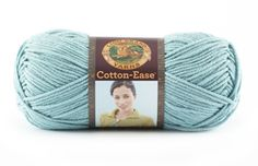 Cotton-Ease  Yarn from Lion Brand Yarn Like this yarn, 50% cotton and 50% acrylic weight category #4