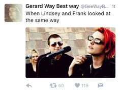 they have the same expression looking at gerard<<< this makes my heart hurt why would you do this