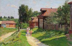 Кузьма Николаев. «Деревенская улица». 1968 г.