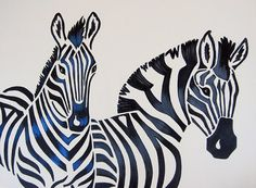 Zebra Nursery Art Safari Zoo Animal Jungle Theme by ModernKidsArt, $95.00