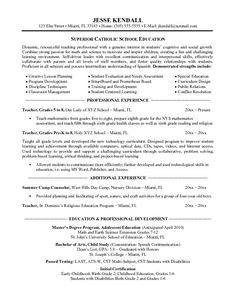 teachers resume free examples our 1 top pick for catholic school teacher resume development - Resume Writing Samples Free