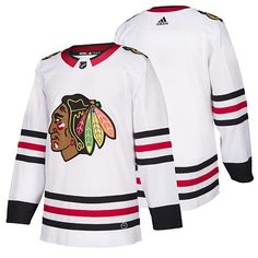 Blackhawks Players, Blackhawks Jerseys, Chicago Blackhawks, Black Accents, Material Design, Home And Away, All White, Adidas, Pullover