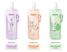 Vapur is the manufacturer of the anti-bottle, reusable, foldable, freezable and attachable tap water container.    The idea was to create a new 'artist series' of stylish designs for Vapur's Anti-Bottle that would make drinking tap water more fashionable. These designs were entered into Vapur's 2009 International Design Competition