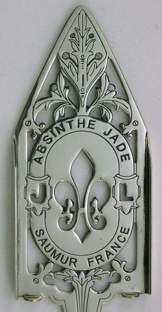 Jade Absinthe Spoon- I would hang this in my kitchen. Love fleur de lis. Getting ready to stencil some over my kitchen windows.