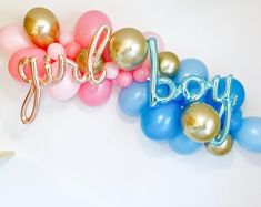 Gender Reveal Balloons Baby Reveal Shower Gender Reveal Party Gender Reveal Shower Reveal Party He or She What will it Be Party Wattpad Twin Gender Reveal, Gender Reveal Balloons, Gender Reveal Party Decorations, Baby Gender Reveal Party, Gender Reveal Cakes, Gender Party Ideas, Ideas For Gender Reveal, Etsy Gender Reveal, Gender Reveal Outfit
