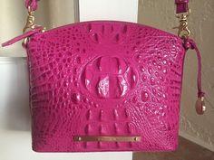 Brahmin Mini Duxbury Crossbody Dahlia Pink Melbourne Leather K50151DH | eBay