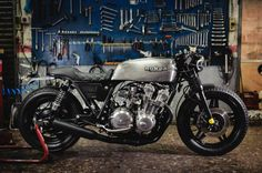 """This is a beautiful Honda CB750 called """"Bad Seed"""" and is built by Octopus Soul Bikes. It's only their 11th creation, but it's a real piece of art."""