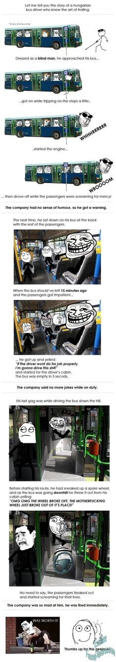Will this make you laugh? Epic bus driver