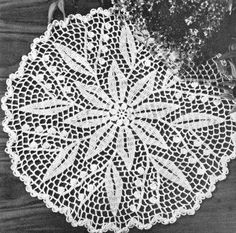 """Lily of the Valley Doily Crochet Pattern 15"""" - KarensVariety.com"""