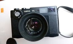 Leica CL Camera with Leica Leitz Wetzlar Summicron C 40mm f2 Lens