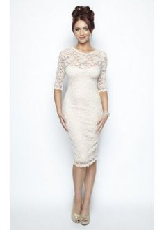 Cream Vintage Lace Long Sleeve Lacey Dress