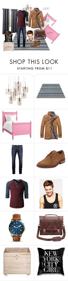 """""""John"""" by gem-leigh on Polyvore featuring Redford House, Jack & Jones, Original Penguin, Toni&Guy, FOSSIL, Bloomingville, men's fashion and menswear"""