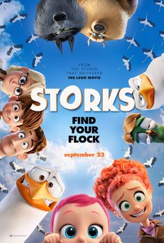 This is a sponsored post. Storks Warner Bros. Pictures In Theaters September 23 Storks deliver babies…or at least they used to. Now they deliver packages for global internet giant Cornerstore.-- ends 10/3/16