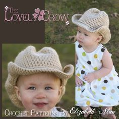 Pattern for a crochet baby cowboy hat?!  Maybe one day ;)