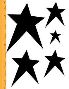 Primitive Star Stencil Pack Prim Art Paint 5 Different Sizes
