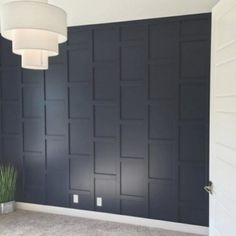 🙂👓🤑😰👝👍🌂🙄🎒👞🧤😲🙂👝👜 Accent Walls In Living Room, Wooden Accent Wall, Wall Trim, Wood Accent Wall, Blue Accent Walls, Home, Interior, Wall Molding, Bedroom Wall