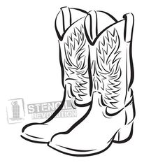 Free Cowboy boot outline  Vector of Hand drawn sketch of a