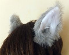 Luxury Realistic Light Grey Faux Fur Cosplay by KittenTreasures, £11.99
