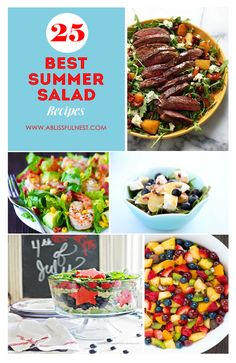 These are the yummiest salad recipes for your backyard party! Best Salad Recipes, Summer Salad Recipes, Paleo Recipes, Soup Recipes, Cooking Recipes, Best Appetizers, Appetizer Recipes, Best Summer Salads, Light Recipes