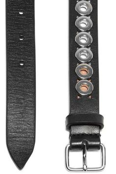 Alaïa - Eyelet-embellished Leather Waist Belt - Black -