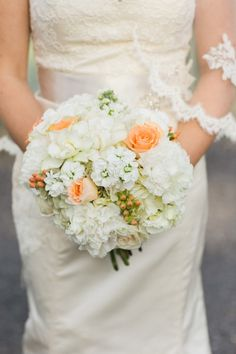 Bridal Bouquet for a fall wedding with a touch of summer. BEE MINE PHOTOGRAPHY // Canton, Ohio Photographer // Akron Ohio Wedding, Hilton Akron Wedding, Hotel Wedding, Fall Wedding, Gold Cranberry and Peach Wedding