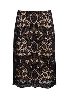Rachelle Lace Overlay Pencil Skirt by L'Agence