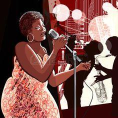 Illustration of singer by  Isabel Da Silva Azevedo