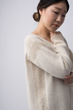 Shibui Knits FW15 | Trace by Shellie Anderson, knit with Shibui Baby Alpaca, Shibui Cima, and Shibui Pebble.