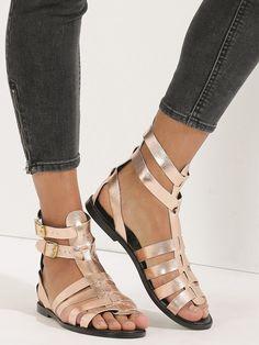 9931a5e866b Buy KOOVS Rose Gold Flat Fisherman Sandals online