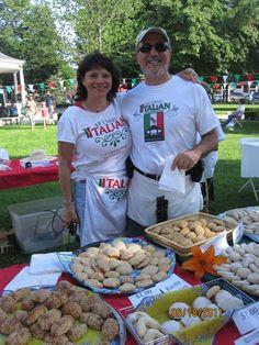 Home made Italian cookie booth, Fairfield, Iowa, Italian Art Walk event.