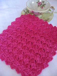 Tulip Stitch Dishcloth