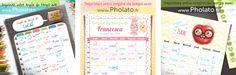Planning de la semaine pour les enfants, à imprimer gratuitement. En partenariat avec le site Pholato.fr.