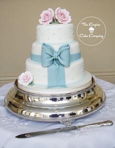 duck egg blue wedding cake wedding cakes from the empire cake company on 13774