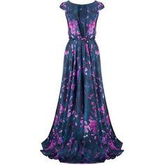 Calla Floral Silk Twist Gown