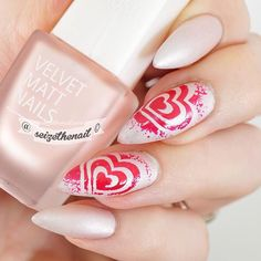 "Love the faded out swirls in this mani by @seizethenail. Wow, Bella! - I ""Heart"" Swirls Nail Vinyls  snailvinyls.com"