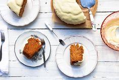 Κέικ καρότου χωρίς αυγά, αφράτο & ζουμερό - madameginger.com Carrot Cake, Healthy Tips, Mashed Potatoes, Carrots, Pancakes, Pudding, Diet, Vegan, Cookies