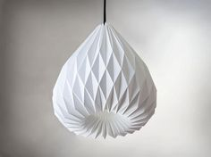 SNOWDROP Origami paper lampshade on Etsy, £59.47