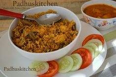 Mushroom Paneer Biryani Recipe-Paneer Biryani (step wise pictures)