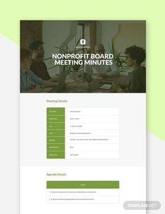 Instantly Download Free Non Profit Board Meeting Minutes Template, Sample & Example in PDF, Microsoft Word (DOC), Apple Pages Format. Available in A4 & US Sizes. Quickly Customize. Easily Editable & Printable.