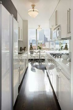 galley kitchen in the city