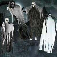 Skull Halloween Hanging Ghost Haunted House Grim Reaper Horror Props Decor U7 Halloween Hanging Ghost Hanging Ghosts Haunted House