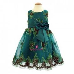 Product  Green Party Frock Price Rs.1 a0bd78180